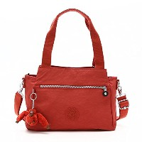 KIPLING(キプリング) ハンドバッグ ELYSIA WINE K43791 MEDIUM SHOULDERBAG WITH REMOVABLE SHOULDERSTR RED RUST ...