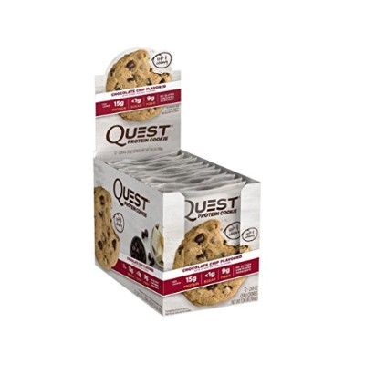 Quest Nutrition(クエストニュートリション), プロテインクッキー Chocolate Chip 12 Cookies 海外直送品 並行輸入品