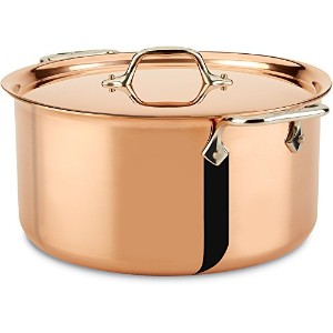 All-Clad CD508 C2 COPPER CLAD Stockpot with Lid with Bonded Copper Exterior Cookware, 8-Quart,...