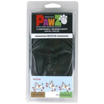 Pawz 2.5-Inch to 3-Inch Water-Proof Dog Boots, Medium, Black by A.C. Kerman - Pet Products [並行輸入品]