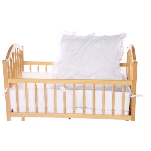 Baby Doll Bedding Solid Cradle Set, White by BabyDoll Bedding