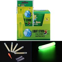 50個100個250pcs LotバルクGlow Sticks for fishing floats Bobbers釣りLuminous Stick Night Light Wandチューブグリーン蛍...
