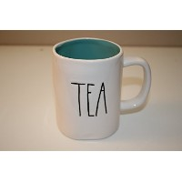 Rae Dunn byマゼンタTea in large letters withターコイズInterior Coffee Tea Mug