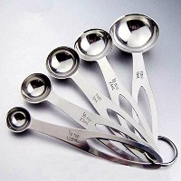5 pcs Useful Stainless Steel Measuring Spoons Tea Coffee Measure Cooking Scoops Free shipping...