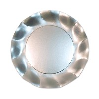 Beistle 10-Pack 8.25-Inch Plates, Small, Satin Silver [並行輸入品]