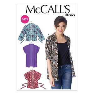 McCall's Patterns M7200 Misses' Jackets Sewing Template, Y (XSM-SML-MED) by McCall's Patterns