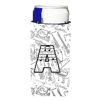 Letter A Musical Note Letters Ultra Beverage Insulators forスリム缶cj2007-amuk
