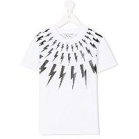 Neil Barrett Kids Lighting bolt Tシャツ - ホワイト