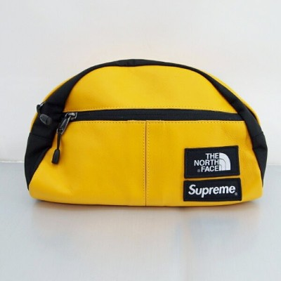 Supreme×THE NORTH FACE (シュプリーム×ノースフェイス) Leather RollLumber Pack NM717571 レザー ウエストバッグ カラー:イエロー【中古】...