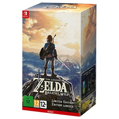 Zelda Breath of the Wild Limited Edition with Master Sword Statue Nintendo - Imported