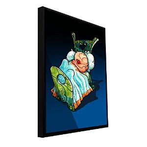 ArtWall Luis Peres ' Kids inベッド2'フロータFramedギャラリー‐ 18x24 0per019a1824f