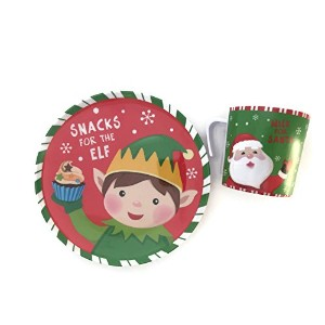 Cookies for Santaプレートセット–Mug for Milk–クリスマスプレートセット–スナックfor the Elves