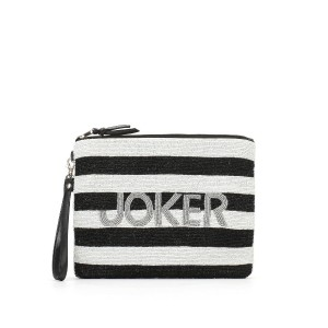 【40%OFF】JOKER & QUEEN ビーズ刺しゅう ボーダー クラッチバッグ ジョーカー/クイーン 旅行用品 > その他