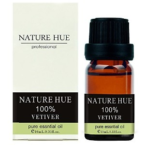 Nature Hue - Vetiver Essential Oil 10 ml, 100% Pure Therapeutic Grade, Undiluted by NATUREHUE