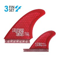 Futures Twin Fin S / Doubleコンボセット( with Trailer Fin ) Shawn StussyテンプレートSurfboard FinsレッドHexcore...