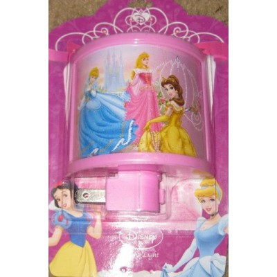 DisneyピンクPrincesses Curved Night Light withベル、シンデレラ、オーロラAll in One