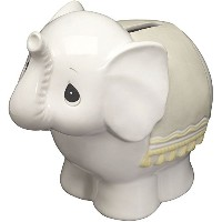 Precious Moments 162426 Baby Elephant BankセラミックFigurine by Precious Moments