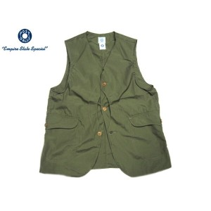 POST OVERALLS(ポストオーバーオールズ)/#1512 ROYAL TRAVELER COTTON BROADCLOTH VEST/olive【父の日】【ギフト】