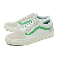 [バンズ] VANS OLD SKOOL (VINTAGE SPORT) TRUE WHITE/KELLY GREEN オールドスクール vn0003z6il4 27.5cm