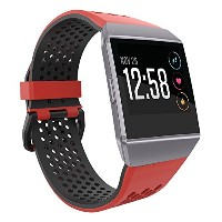 Fitbit Ionic帯、umtele Two Toned Perforated交換用ストラップ通気性アクセサリーリストバンドwith Double Buckle for Fitbit Ionic...
