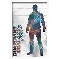 Guardians of the Galaxy : Vol。2–star-lord ( Exclusive )印刷とフレームオプション 12x18 in ホワイト AP15124559_PC0...