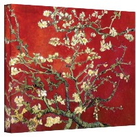 """ Almond Blossom "" by Vincent Van GoghギャラリーWrappedキャンバス 20"" x 24"" レッド Vangogh09-20x24-w"