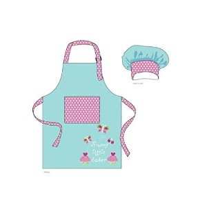 Chef Set for Kids – Apron and Chef Hat ピンク 15568