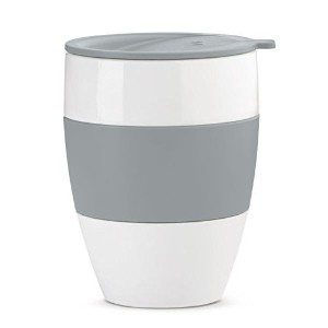 Koziol Aroma To Go Insulated Cup with Lid、400ml、ソリッドクールグレー