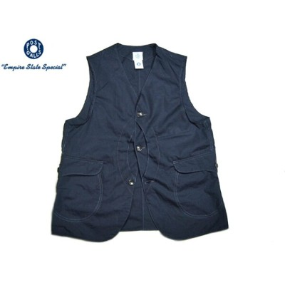 POST OVERALLS(ポストオーバーオールズ)/#1512 ROYAL TRAVELER COTTON BROADCLOTH VEST/navy