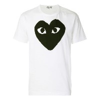 Comme Des Garçons Play ハートプリント Tシャツ - ホワイト