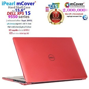 iPearl mCover ハードシェルケース 15.6インチ Dell XPS 159550/ 9560/ Precision 5510シリーズ (2015年9月以降リリース) ラップトップコンピュータ用 -  mCover-DELL-XPS15-9550-RED