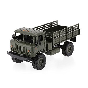 Goolsky WPL B-24 1/16 RC軍用トラック キット ロッククローラー陸軍用カー キット(モーター&サーボ付き)ラジコン 車 キット ギフト 自由研究