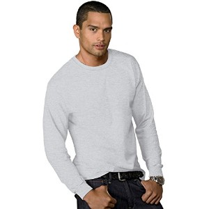 Hanes 5286 Men 5.2 Oz Comfortsoft Heavyweight T-Shirt Light Steel Grey Extra Large