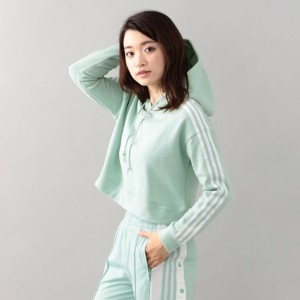 SALE【ギルドプライム(GUILD PRIME)】 【adidas】WOMENS パーカー-CROPPED HOODIE CY4769- ライトグリーン