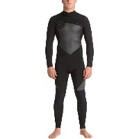 クイックシルバー メンズ サーフィン スポーツ 3/2 Syncro Series Back-Zip Flt Wetsuit - Men's Black/ Black/ Jet Black