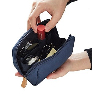ithinkso BELL MAKE-UP POUCH コンパクトサイズ 化粧ポーチ (ライトネイビー)