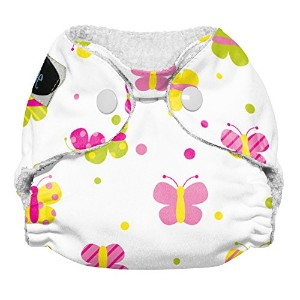 Imagine Baby Products Newborn Stay Dry All-In-One Snap Cloth Diaper, Flutter by Imagine Baby Products