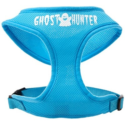 Mirage Pet Products 70-13 LGAQ Ghost Hunter Design Soft Mesh Harnesses Aqua Large
