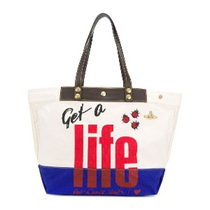 Vivienne Westwood Anglomania Get A Life トートバッグ - ニュートラル