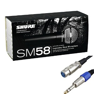 SHURE SM58S マイクケーブルセット(5m XLR/Phone)