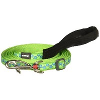 High Quality Dog Lead, Lime Green with Blue Stars, 12mm...