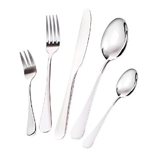 20-piece Flatware Silverwareセット、pafeitキッチンモダンEating Utensilsカトラリーキット、高品質ステンレススチールナイフ、フォーク、スプーン、セット...