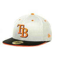 Tampa Bay Rays MLB New Era Deez Neonホワイト/ブラック/オレンジ59 Fifty Fitted Hatキャップ ホワイト
