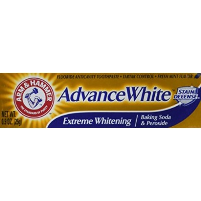 Arm & Hammer Advance White Extreme Whitening Toothpaste .9 Oz Travel Size by Arm & Hammer