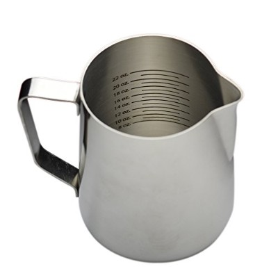 (980ml) - 980ml Stainless Steel Frothing Pitcher with Graduated Interior Markings