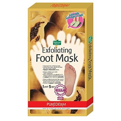 Purederm Exfoliating Foot Mask - Peels Away Calluses and Dead Skin in 2 Weeks! (5 Pack (5 Treatments...
