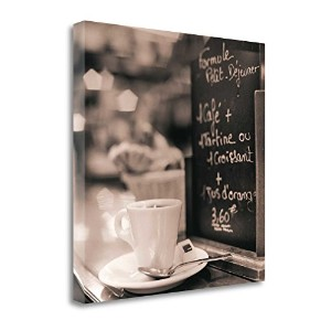 """"""" Cafe Champs–Elysees """" by Alan Blaustein ,アートジークレーギャラリーラップキャンバスの印刷、ハングする準備"""