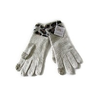 Coach コーチ 手袋 ロゴ ニット テック グローブ 86022 チョーク/レオパード【新品】COACH OCELOT TOUCH GLOVE (Style F86022 CAH) Chalk...