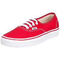Vans Authentic Redメンズレディーススケートシューズ カラー: レッド