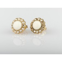 Amaro Jewelry Studio 'Illumination' Collection 24K Yellow Gold Plated Dramatic Earrings Ornate with...